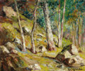 Fine Art - Painting, American:Contemporary   (1950 to present)  , PAUL LAURITZ (Canadian, 1889-1975). Forest Interior. Oil on canvas. 21 x 24-1/2 inches (53.3 x 62.2 cm). Signed lower ri...