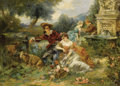 Fine Art - Painting, European:Antique  (Pre 1900), VICENTE GARCÍA DE PAREDES (Spanish, 1845-1903). FêteChampêtre. Oil on canvas. 29-1/8 x 39-3/8 inches (74 x 100 cm).Sig...