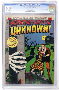 Adventures Into The Unknown #19 Mile High pedigree (ACG, 1951) CGC NM- 9.2 Off-white to white pages
