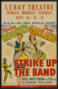 "Movie Posters:Musical, Strike Up the Band (MGM, 1940). Window Card (14"" X 22""). Musical...."