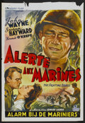 "Movie Posters:War, The Fighting Seabees (Republic, 1944). Belgian (13.25"" X 19.25"").War...."