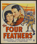 "Movie Posters:Adventure, The Four Feathers (Paramount, 1929). Window Card (14"" X 17"").Adventure...."