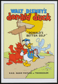 "Movie Posters:Animated, Donald's Better Self (Circle Fine Arts, 1980s). Fine Art Serigraph(21"" X 31"").. Animated...."