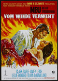 "Movie Posters:Academy Award Winner, Gone with the Wind (MGM, R-1971). German A1 (23"" X 33""). AcademyAward Winner...."
