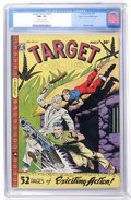 Golden Age (1938-1955):Miscellaneous, Target Comics V9#1 Mile High pedigree (Novelty Press, 1948) CGC NM- 9.2 Off-white to white pages....