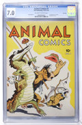 Golden Age (1938-1955):Funny Animal, Animal Comics #1 File Copy (Dell, 1942) CGC FN/VF 7.0 Off-white towhite pages....