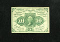 Fractional Currency:First Issue, Fr. 1242 10c First Issue About New. A corner fold and a lateral center fold are noticed....