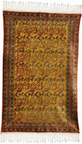 Rugs & Textiles:Carpets, A Fine Chinese Silk Rug. Chinese. Circa 1920. Silk, wool. 94.5inches x 60.25 inches. Tibet silk with fine all-over desi...