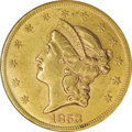 Liberty Double Eagles: , 1853/2 $20 AU58 NGC. This overdate has been known for quite anumber of years, and despite efforts by some to show that it ...