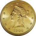 1906-D $10 MS65 NGC. The 1906-D ten dollar has a mintage of just under one million pieces, and is relatively common thro...