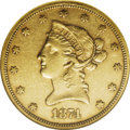 Liberty Eagles: , 1874-S $10 AU53 NGC. Like all S-mint eagles struck between 1857 and1877, the 1874-S is rare in AU grades. Only 10,000 piec...
