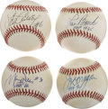 Autographs:Baseballs, MLB Stars Single Signed Baseballs Lot of 4....