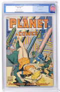 Golden Age (1938-1955):Science Fiction, Planet Comics #53 (Fiction House, 1948) CGC VF+ 8.5 Off-white towhite pages....