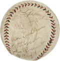 Autographs:Baseballs, 1930s Major League Stars Multi-Signed Baseball with Gehrig....