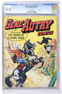 Gene Autry Comics #1 (Fawcett, 1942) CGC VF 8.0 Off-white pages