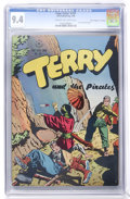 """Golden Age (1938-1955):Adventure, Four Color #101 Terry and the Pirates - Davis Crippen (""""D"""" Copy) pedigree (Dell, 1946) CGC NM 9.4 Cream to off-white pages. ..."""