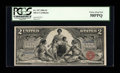 Large Size:Silver Certificates, Fr. 247 $2 1896 Silver Certificate PCGS Choice About New 58PPQ....