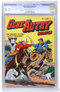 Golden Age (1938-1955):Western, Gene Autry Comics #3 (Fawcett, 1942) CGC VF+ 8.5 Cream to off-whitepages. ...