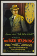 "Movie Posters:Serial, The Fatal Warning (Mascot, 1929). One Sheet (27"" X 41"") Episode No. 8 --""The Fatal Fumes."" Serial...."