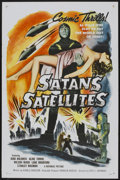 "Movie Posters:Science Fiction, Satan's Satellites (Republic, 1958). One Sheet (27"" X 41"")Flat-Folded. Science Fiction...."