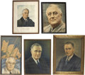 Political:Miscellaneous Political, Franklin D. Roosevelt: Five Framed Portraits.. -1933-1945.. -Verygood to fine, with some wear (mostly on frames).... (Total: 5Items)