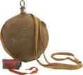 "Military & Patriotic:Civil War, Civil War Eight Ring ""Bullseye"" Canteen with Original Brown Wool Cover and Wool Sling Id'd to Sgt. Walter F. Bicknell 99th Pen... (Total: 2 Items)"