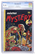 "Golden Age (1938-1955):Horror, Mister Mystery #2 Davis Crippen (""D"" Copy) pedigree (MRPublications, 1951) CGC NM 9.4 Off-white pages. ..."