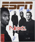 Autographs:Others, 1998 ESPN Magazine First Edition Signed by Kobe Bryant, EricLindros, Alex Rodriguez and Kordell Stewart....