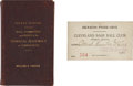 Baseball Collectibles:Others, 1913 Federal League Season Pass with 1927 Rule Book....