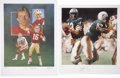 Football Collectibles:Others, Joe Montana and Dan Marino Signed Photographs Lot of 2....