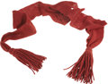 """Military & Patriotic:Civil War, Loose Weave, Probably Pre Civil War Non-Commissioned Officer's Red Wool Sash. 4½"""" wide with weave noticeably looser than nor..."""
