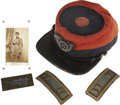 Military & Patriotic:Civil War, Stunning, Identified 14th Brooklyn Chasseurs' Grouping Including Cap, Stencil, Shoulder Straps and Carte De Visite... (Total: 4 Items)
