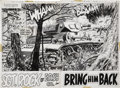 Original Comic Art:Splash Pages, Doug Wildey Our Army at War #285 Sgt. Rock Splash Pages 2and 3 Original Art (DC, 1975).... (Total: 2 Items)