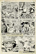 Original Comic Art:Panel Pages, Jack Kirby and Joe Sinnott Fantastic Four #70 the Thing page4 Original Art (Marvel, 1968)....