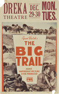 "Movie Posters:Western, The Big Trail (Fox, 1930). Window Card (14"" X 22"")...."