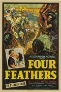 "Movie Posters:Action, Four Feathers (United Artists, 1939). One Sheet (27"" X 41"")...."