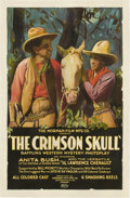 "Movie Posters:Black Films, The Crimson Skull (Norman, 1922). One Sheet (27"" X 41"")...."