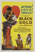 """Movie Posters:Black Films, Black Gold (Norman, 1928). One Sheet (27"""" X 41"""")...."""