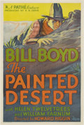 "Movie Posters:Western, The Painted Desert (RKO-Pathé Distributing, 1931). One Sheet (27"" X 41"")...."