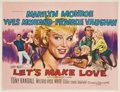 "Movie Posters:Comedy, Let's Make Love (20th Century Fox, 1960). British Quad (30"" X40"")...."