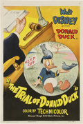 "Movie Posters:Animated, The Trial of Donald Duck (RKO, 1948). One Sheet (27"" X 41"")...."