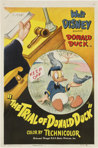 """The Trial of Donald Duck (RKO, 1948). One Sheet (27"""" X 41"""")"""