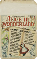 "Movie Posters:Fantasy, Alice in Wonderland (Paramount, 1933). Window Card (14"" X 22"")...."