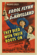 "Movie Posters:Western, They Died With Their Boots On (Warner Brothers, 1941). One Sheet(27"" X 41"")...."