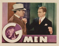 "Movie Posters:Crime, G-Men (First National, 1935). Lobby Card (11"" X 14"")...."
