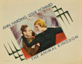"Movie Posters:Drama, The Animal Kingdom (RKO, 1932). Lobby Card (11"" X 14"")...."