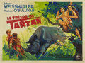 "Movie Posters:Adventure, Tarzan's Secret Treasure (MGM, 1940s). French Horizontal Grande(63"" X 47"")...."