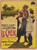 "Movie Posters:Romance, The Sheik (Paramount, 1921). French Grande (47"" X 63"")...."