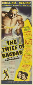 "Movie Posters:Fantasy, The Thief of Bagdad (United Artists, 1940). Insert (14"" X 36"")...."