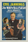 "Movie Posters:Drama, The Way of All Flesh (Paramount, 1927). One Sheet (27"" X 41"")...."